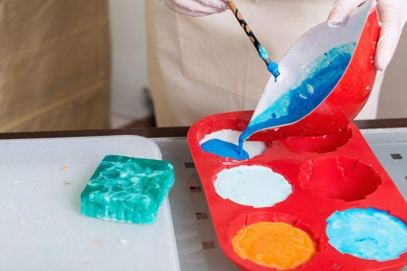 making soap at home