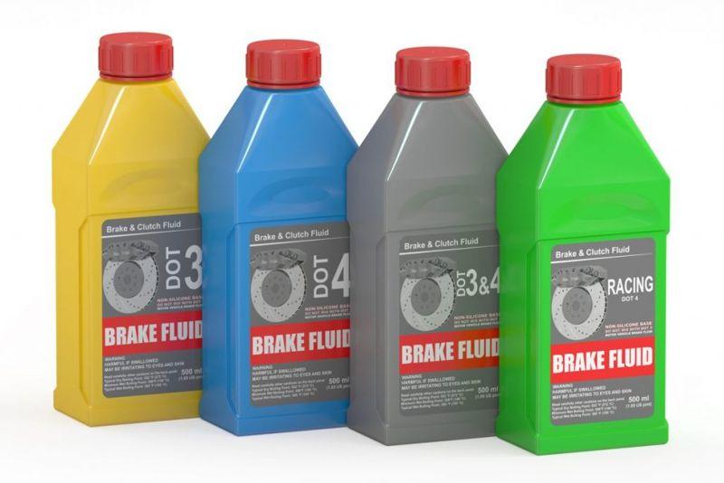 Hazardous-material fluid-disposal unused-brake-fluid