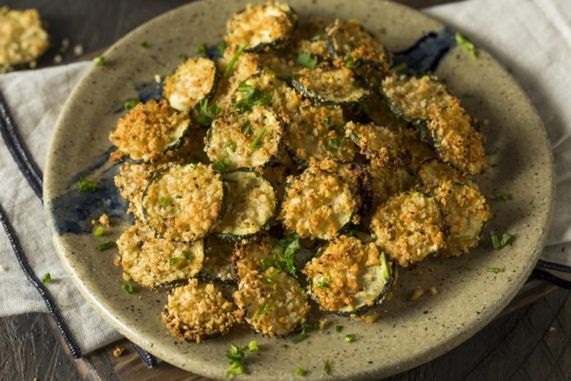 baked zucchini coins