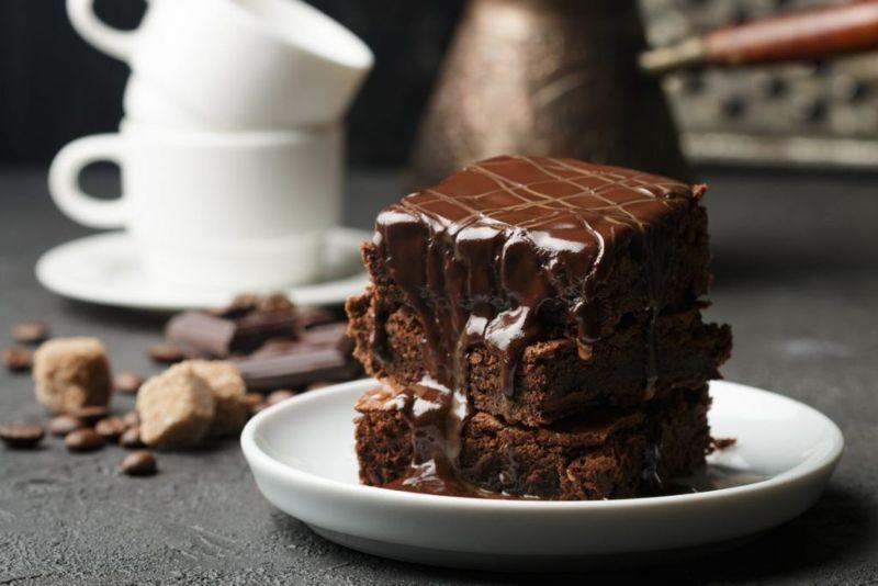 Fudge and coffee brownies