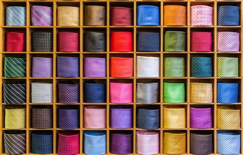 pattern material tie