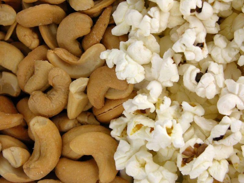 fiber nuts popcorn