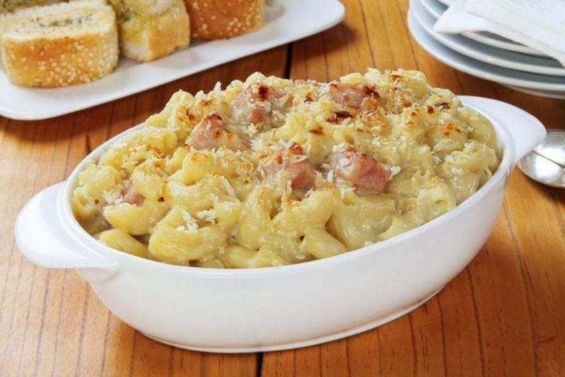 mac cheese ham