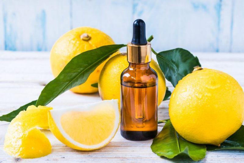 coconut oil, lemon, orange, essential