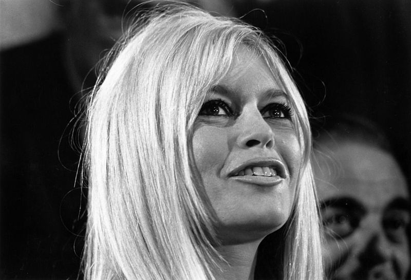 French actress Brigitte Bardot during a ceremony in London.
