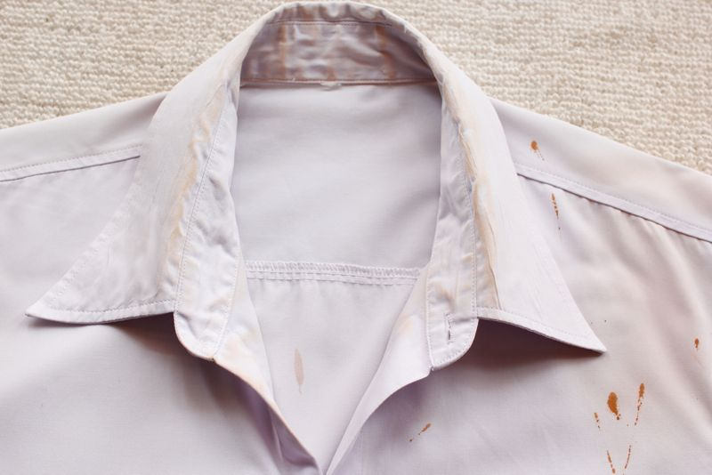 stains on shirts