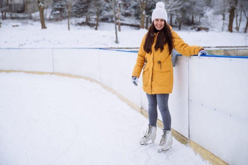 ice rink handrail