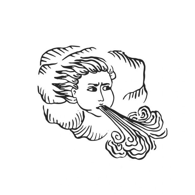 Greek god Zephyr