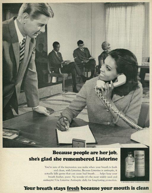 Vintage mouthwash ad