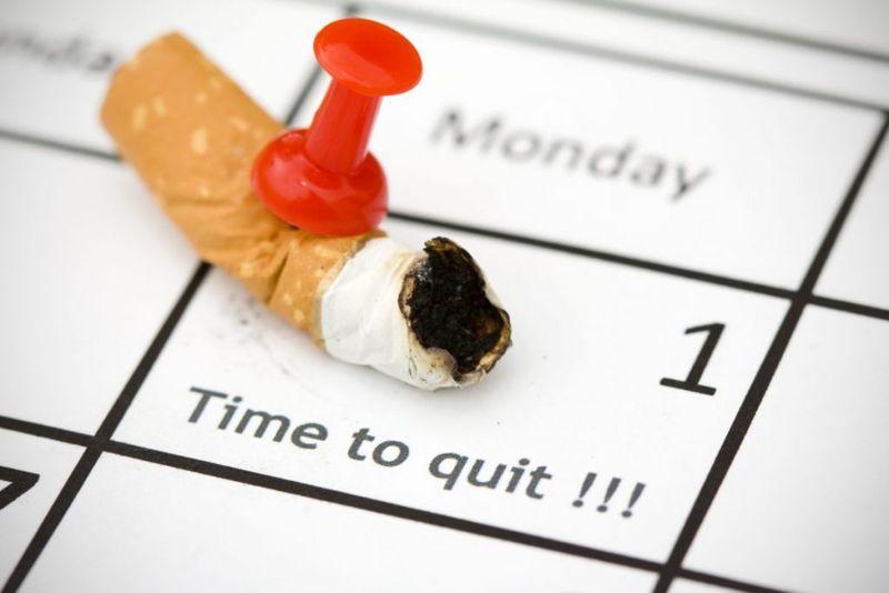 calendar cigarette butt quit smoking