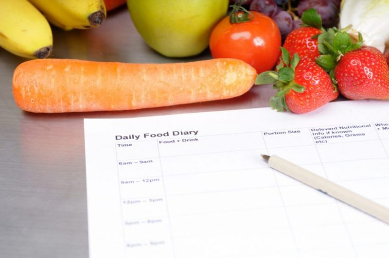 contents of food diary