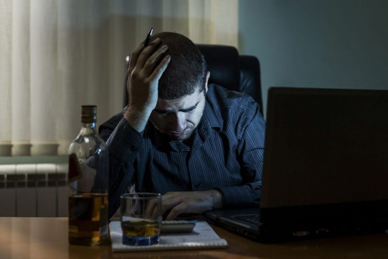 overworking drinking alcohol