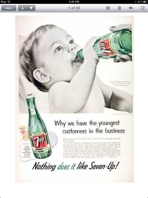 Vintage soda ad