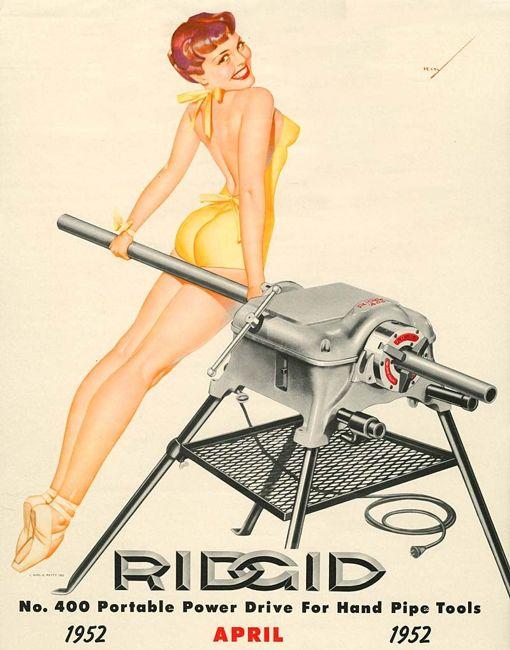 Vintage power tool ad