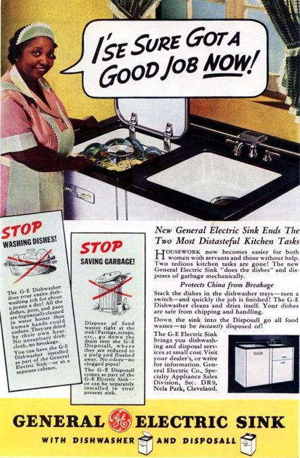 Vintage dishwasher ad
