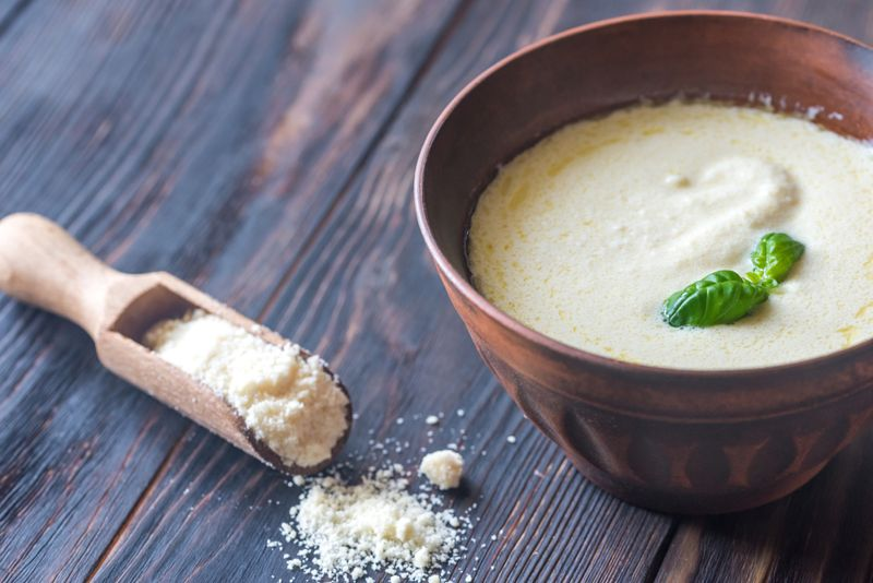 Bowl of alfredo - Italian pasta sauce