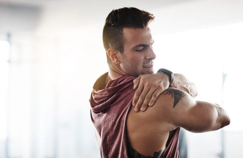 man muscle pain