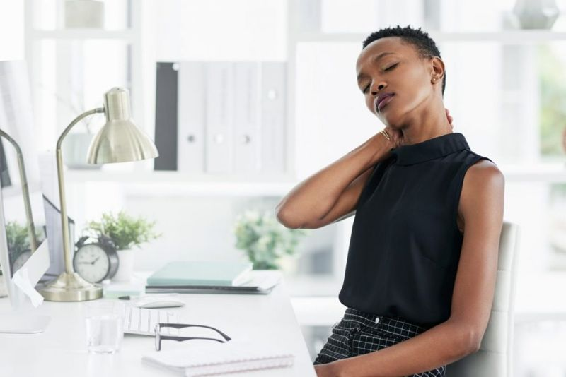 woman at work stress tension