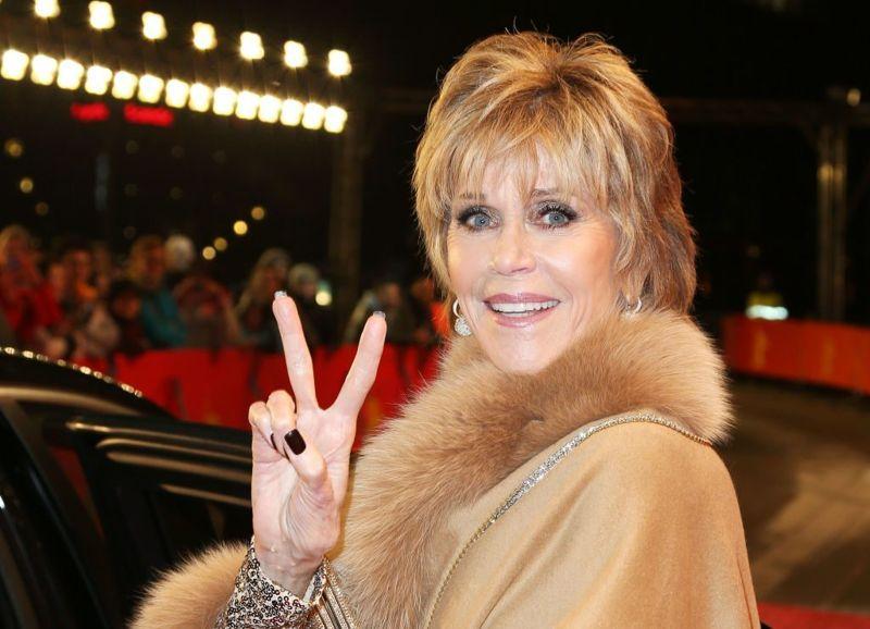 Jane Fonda Wearing Fur