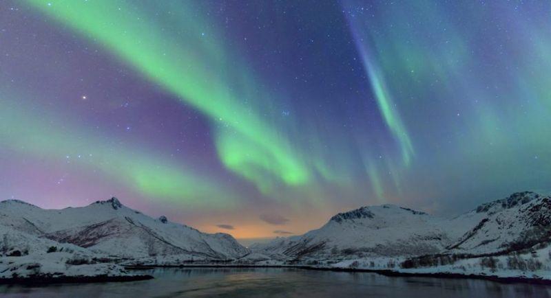 Scandinavian Norway northern lights