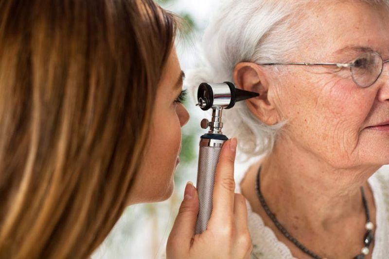 hearing exam doctor patient