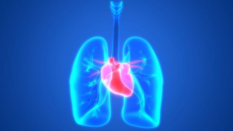 hyperinflation lungs heart complications respiratory