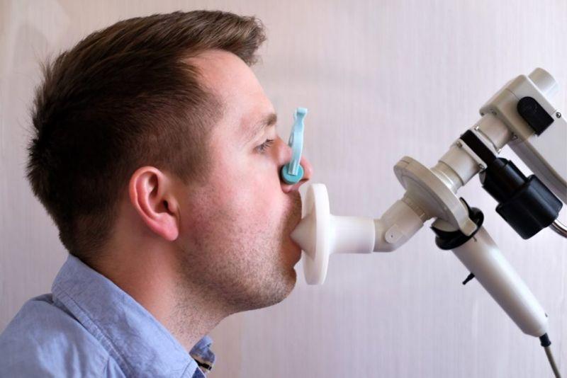 diagnosis plethysmography spirometer FRC RV