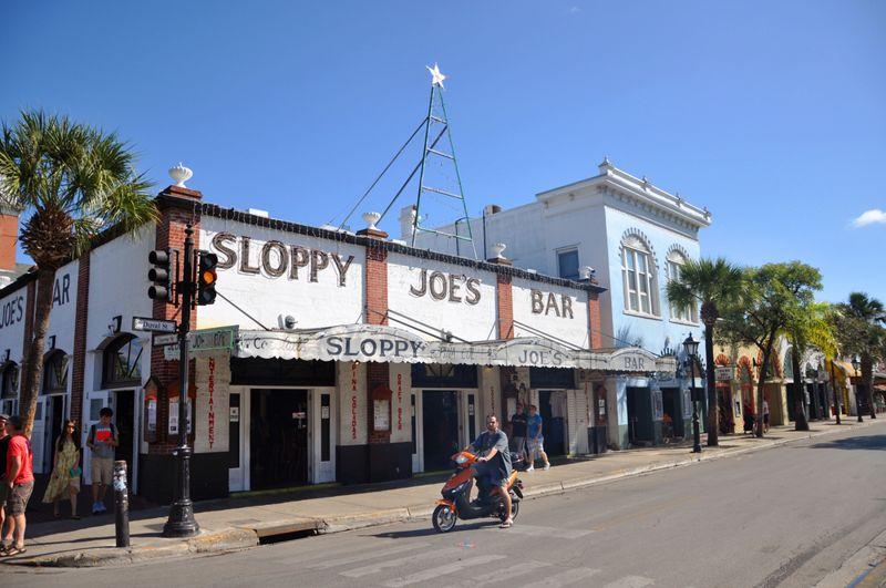 Sloppy Joe's Bar on Duval Street on December 20th, 2015 in Key West, Florida, USA.