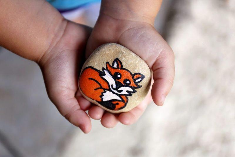 rocks, pebbles, paint, decorate, crafts