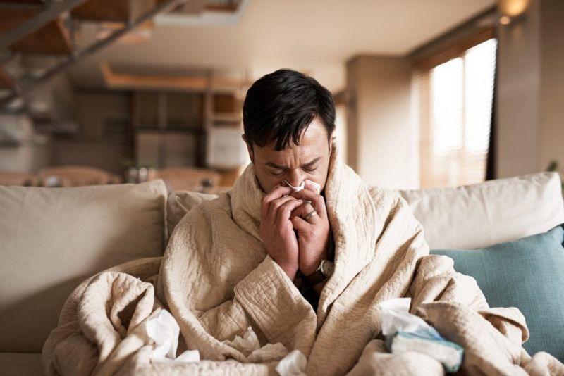 sneezes cold flu