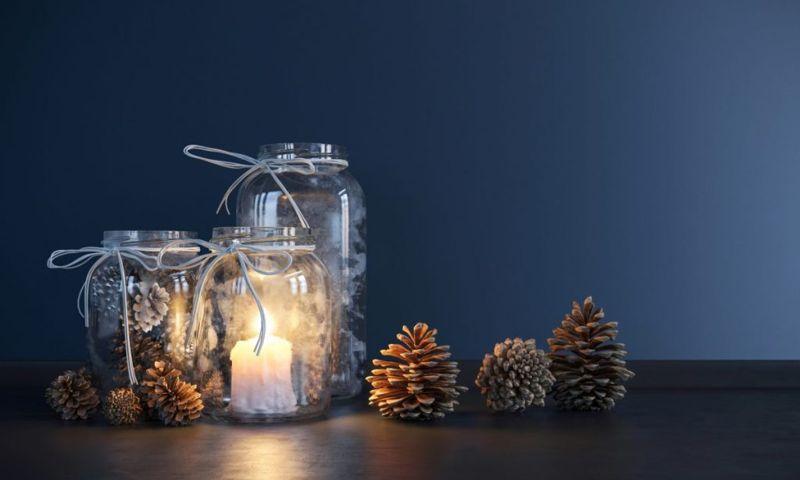 mason jar craft candleholder