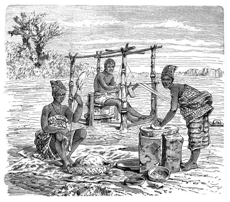 African women working
