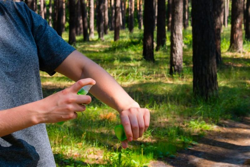 Skin repellent eucalyptus oil