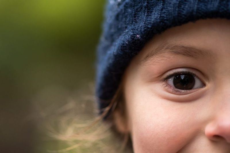 An image of a child's eye.