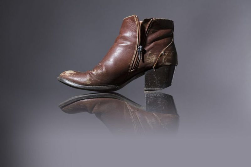 A worn-out woman's boot