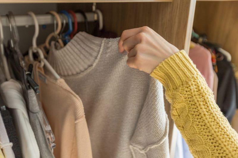 clothes closet dust