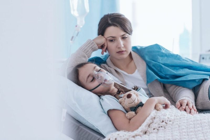 cancer breathing oxygen child