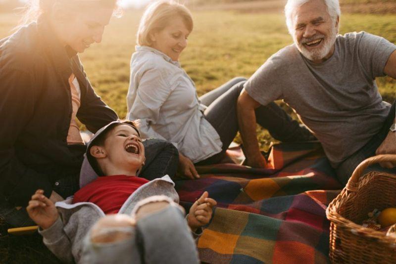 picnic, summer, family, grandchildren, grandparents