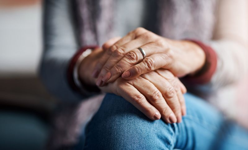 Cropped shot of a senior woman's hands