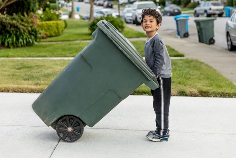 take out trash child