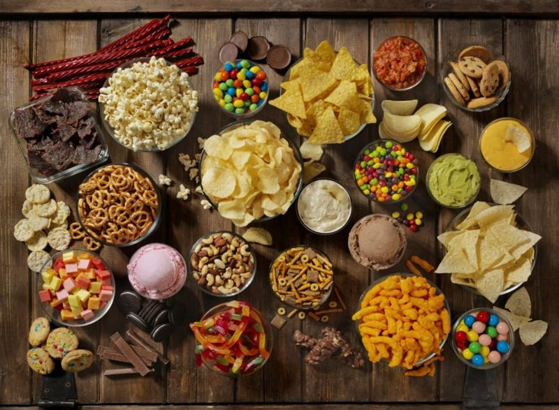 refined carbohydrates junk food