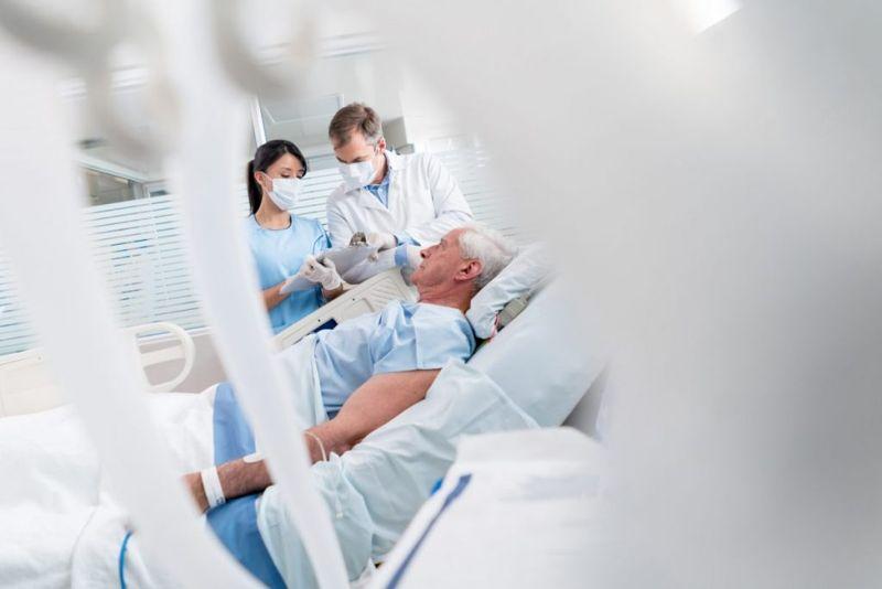 Man in intensive care unit