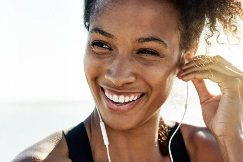 Healthy and happy woman