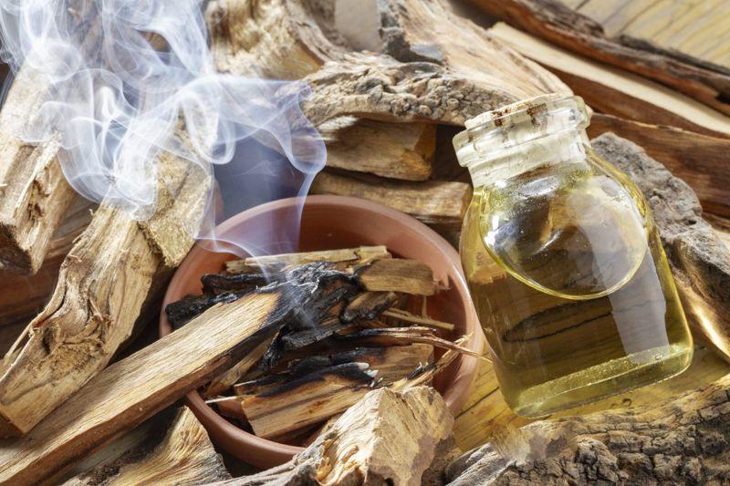 smudging sacred wood