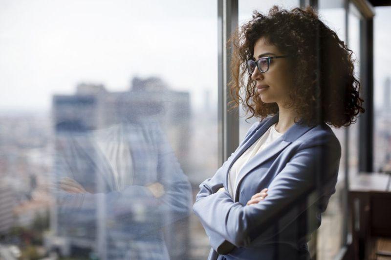 outlook prognosis gazing woman