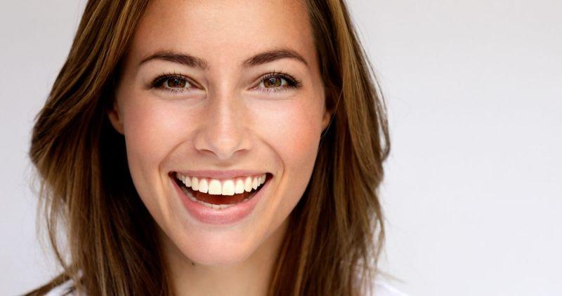 face clear skin woman dermaplaning