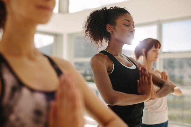 woman yoga exercise meditation