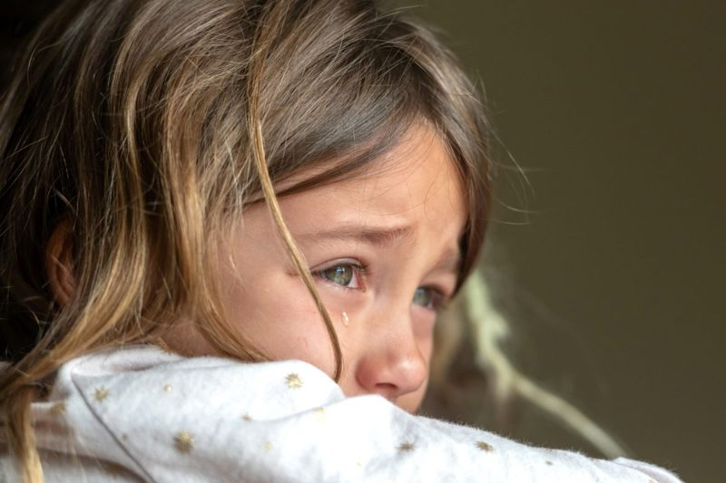 signs anxiety crying girl tense