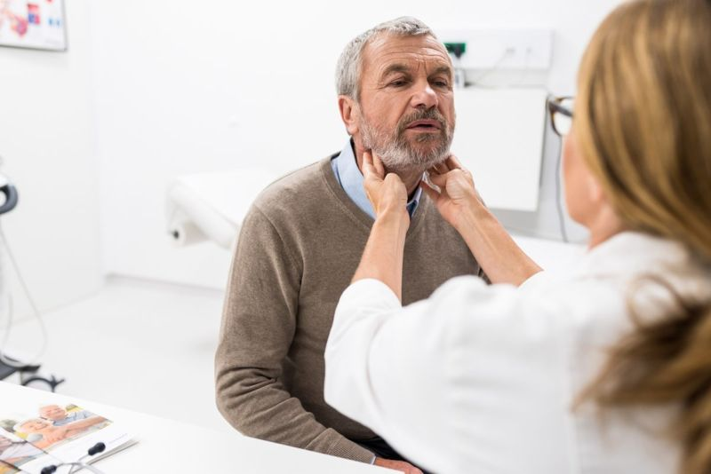 throat lymph node examination
