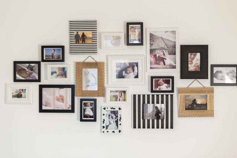 A gallery wall at home is a fun project
